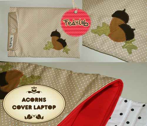 Acorns cover laptop