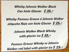 Johnny Walker on the Glacier Rocks at Glacier Perito Moreno
