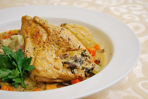 Julia Child's Chicken Fricassee (Fricassee De Poulet A L'Ancienne)