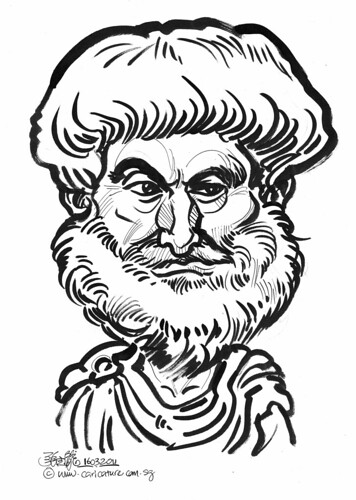Caricature of Aristotle