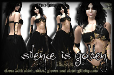 SILENCEISGOLDENBLACKdress
