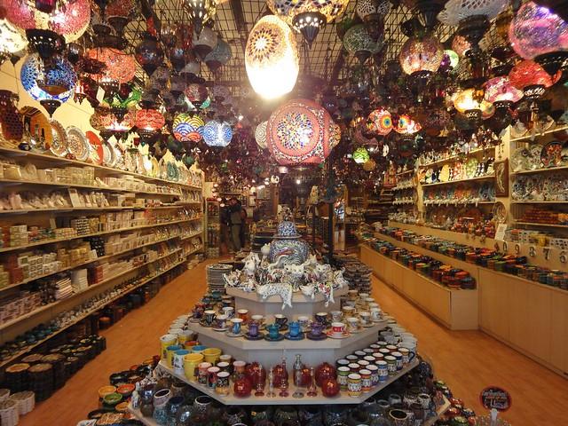 Loja de artesanato em Istambul