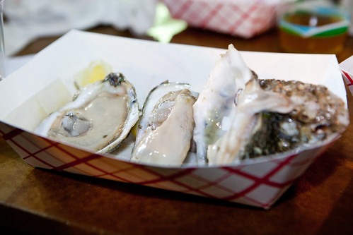 Fresh shucked, meaty oysters