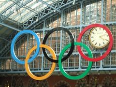 Olympic Rings (failing_angel) Tags: london camden railwaystation olympics stpancras stpancraschambers georgegilbertscott midlandgrandhotel olympicrings 2012olympics williamhenrybarlow 050411 boroughofcamden gamesofthexxxolympiad