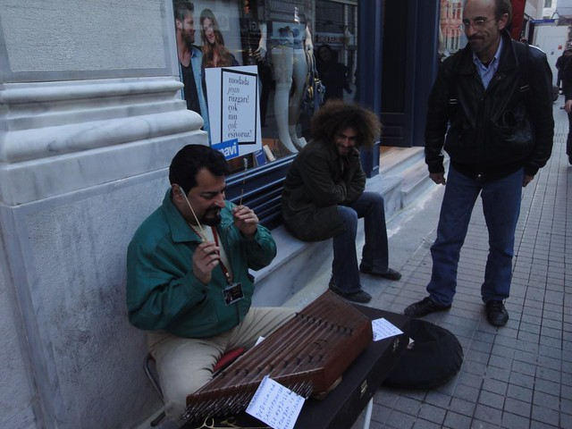 Musicos de rua na Avenida Istiklal