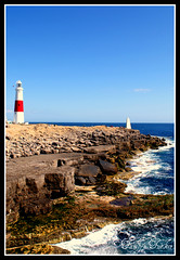 Portland Bill - Wide Shot (ttamzz) Tags: uk blue red sea summer england lighthouse white holiday beach beautiful easter seaside spring walk postcard south sunny april soutwest weymouth idealic portlandbill southwell jurassiccoast 2011