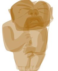 Unhappy Olmec Infant 2011.04.13