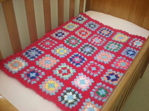 granny square blanket for gracie
