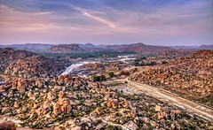 Incredible India (Clearvisions) Tags: india landscape landmark unescoworldheritagesite andromeda hampi kingsbalance {addyourkeywordsseparatedbysemicolons} courtesansstreet doublyniceshot mygearandmegold vithlatemplecomplex bhimasgateway tungabhadarariver purandarasamantapa achyutarayatemple1534ad watertankusedbythecourtisans 50awards