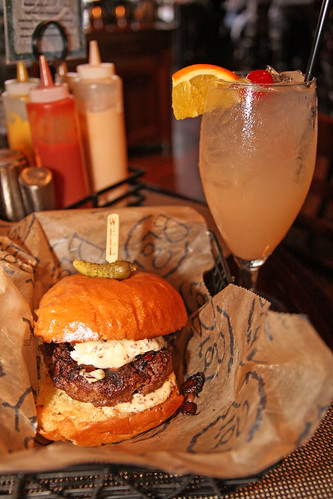 Shroomz Burger and Sangria at BRGR