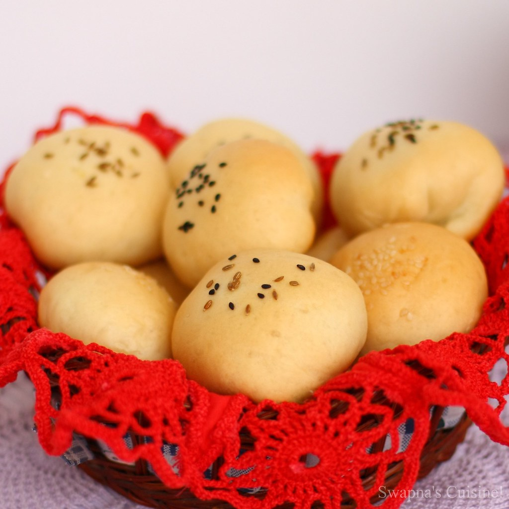 Peynirli Poğaça (Turkish Feta And Herb Filled Savoury Buns)