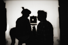 Саша и Катя (TommyOshima) Tags: leica monochrome japan katya studio 50mm tokyo hc110 f10 8x10 fujifilm roppongi sasha noctilux m7 superpresto1600 deadorff sashanikitin ekaterinarodionova