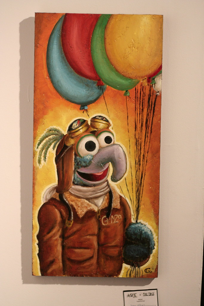The Great Gonzo Oil Painting