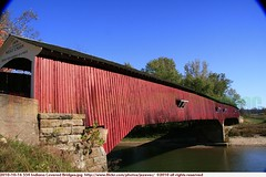 2010-10-16 554 Indiana Covered Bridges West Union Bridge (Badger 23 / jezevec) Tags: wood bridge usa architecture america puente countryside wooden madera country indiana ponte cover covered pont brug  brcke holz madeira hout bois 2010 legno ural    ponticello            lindiana   20101016