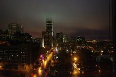 IMGP1523 (PommeGranny) Tags: city canada rain fog buildings vacances holidays cityscape quebec montreal towers pluie tours brouillard ville