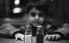 Salt and Pepper (Fogel's Focus) Tags: pepper 50mm bokeh minoltax700 grain salt diner neopan400 rodinal shakers 20c 125 f17 4001600 minoltamd theyoungest 10min autaut filmdev:recipe=6564