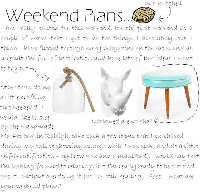 Weekend Plans 4.22.11