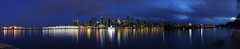Vancouver Panoramic (DustinGinetz.Photography) Tags: city sky panorama reflection tower water skyline night vancouver lights long downtown waterfront bright harbour britishcolumbia pano wide seawall stanleypark pan canonefs1855mmf3556is thechallengefactory