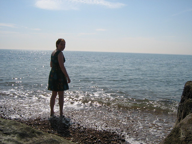 me in the sea at Sandgate