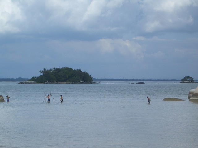 Fishing men at Pulau Besar