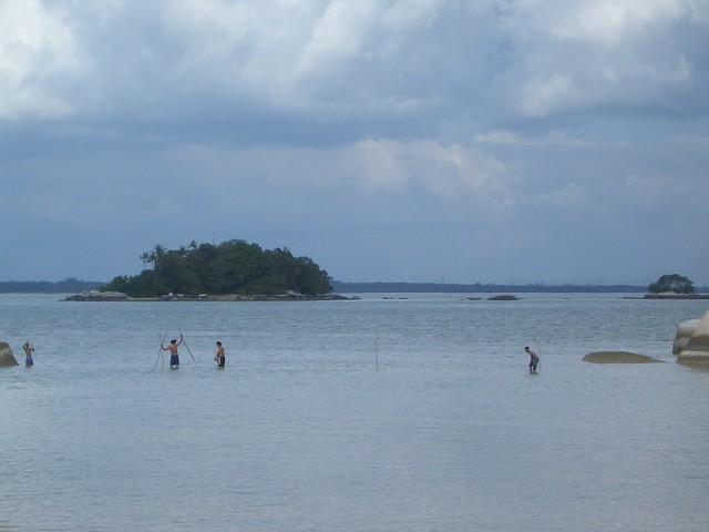 Fishing men at Pulau Besar