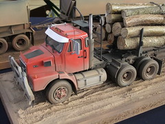 """VOLVO N12 Logging truck 1/25 """"Meeting Auto Camions Kit 2011"""" (hayes69) Tags: truck volvo exposition camion kit maquette"""
