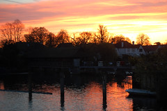 sunrise over the weir (grannie annie taggs) Tags: colour reflection water sunrise reflexions fiatlux