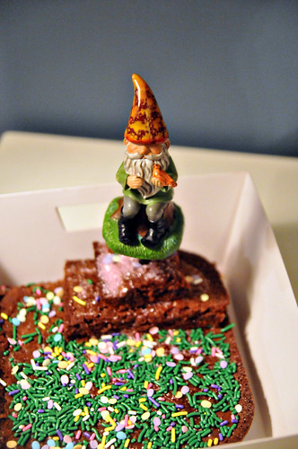 Easter Gnome garden brownie