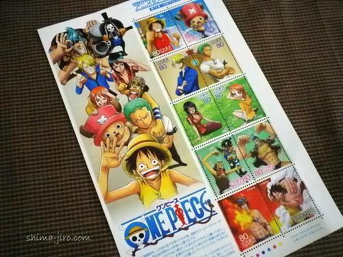 ワンピース 切手