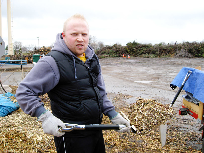 Patrick with Woodchips