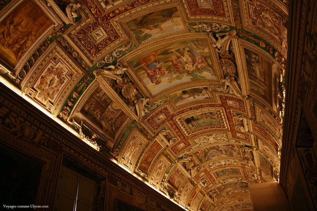 Plafond de la Galerie des Cartes