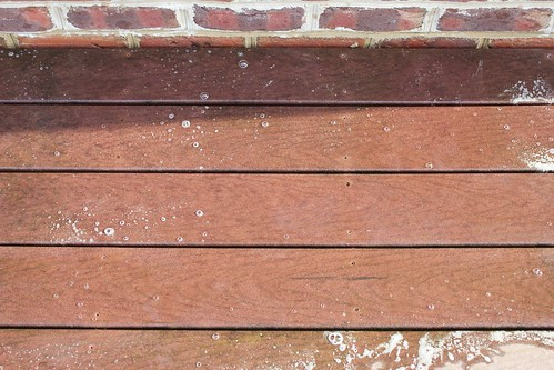 Deck after being cleaned with What-EVER