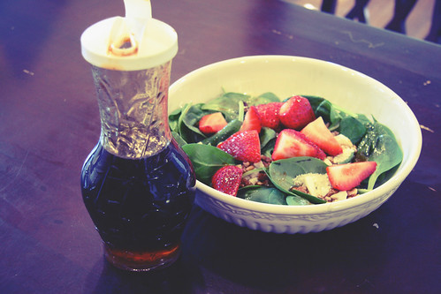 Strawberry Spin Salad with Mission Valley Dressing