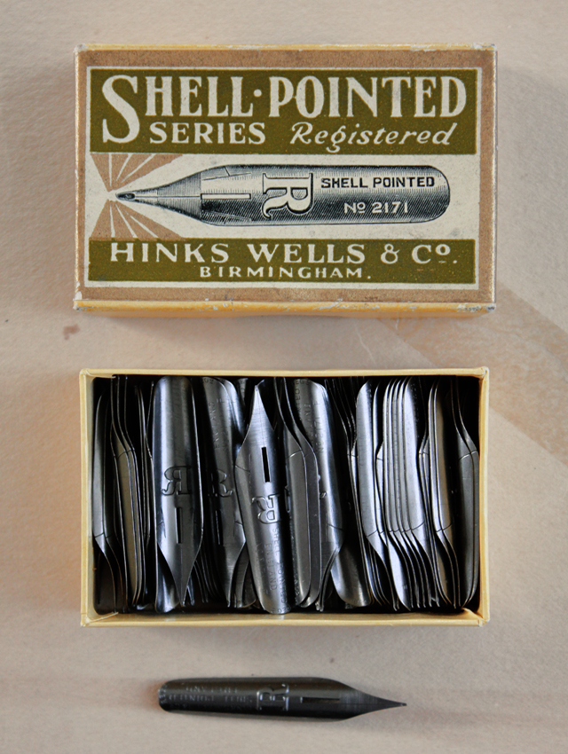 Vintage ink pen nibs
