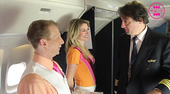 Captain Eddy, Natasja en Claudia (Bimbo Air) Tags: claudia natasja stewardes bimboair captaineddy