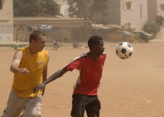 Sailor plays soccer with student in Senegal (Official U.S. Navy Imagery) Tags: navy senegal dakar sailor usnavy aps guidedmissilefrigate africapartnershipstation ussrobertgbradleyffg49