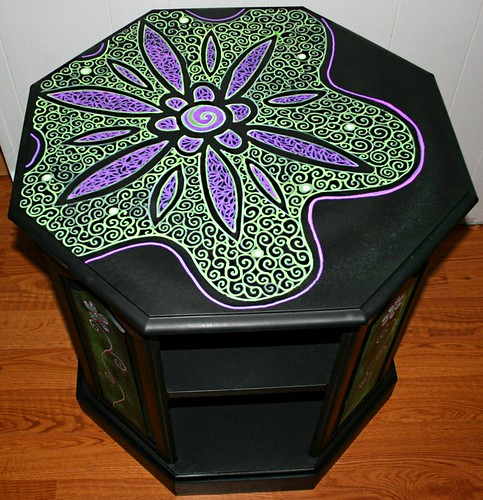 Table/Cabinet by Rick Cheadle Art and Designs
