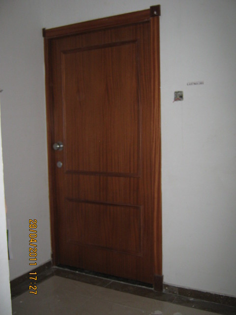 Main door of the flat in Sangria Towers at Megapolis Hinjewadi Phase 3, Pune