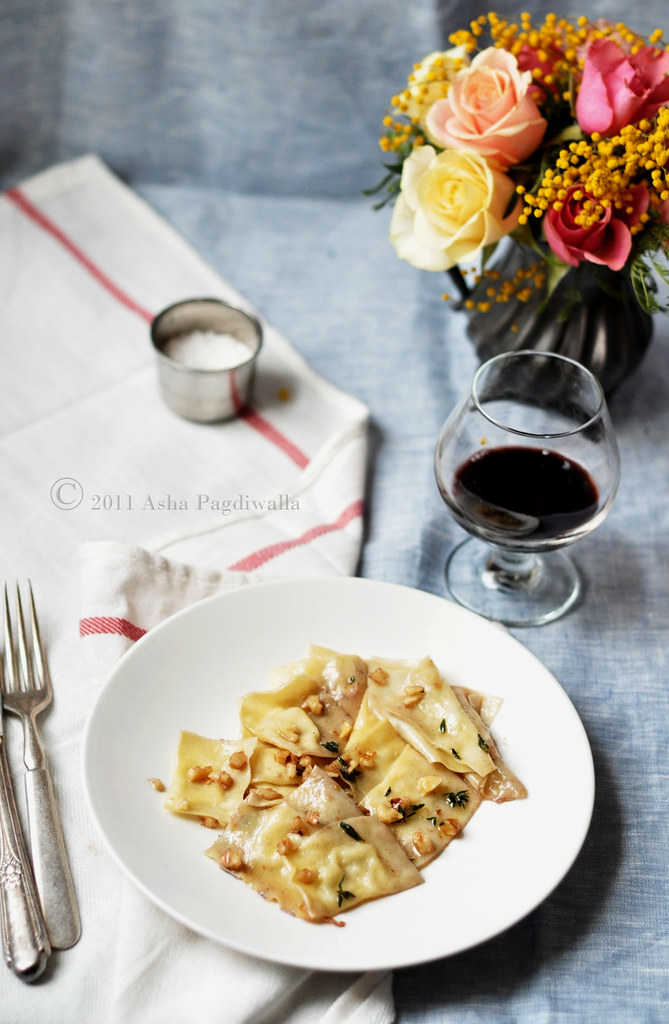 Taleggio Agnolotti in Walnut & Thyme Brown Butter Sauce