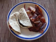 Huitlacoche Quesadilla y Tocino (knightbefore_99) Tags: food west art mexico hotel coast pacific mexican oaxaca desayuno quesadilla huitlacoche huatulco tocino lasbrisas