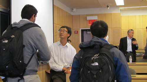 Andrew Youn talking to students after his talk