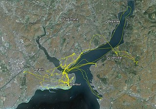 My Istanbul paths (GPS)