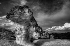 Skalnite Gabi (Didenze) Tags: light bw texture monochrome clouds bulgaria rockformations canon450d stonemushrooms beliplast didenze skalnitegabi