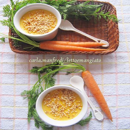 Crema di carote al pofumo di cannella