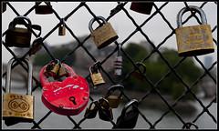 Lovers padlocks   Pont des Arts (PG63) Tags: paris arts des day1 pont thursday dag1 padlocks torsdag
