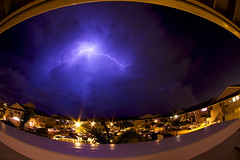 The Lightning Show [3 of 3] (M.Ramalho) Tags: longexposure sky storm weather night clouds hawaii crazy oahu bolt lightning epic rare waipio tokina1017mmfisheye canoneos40d