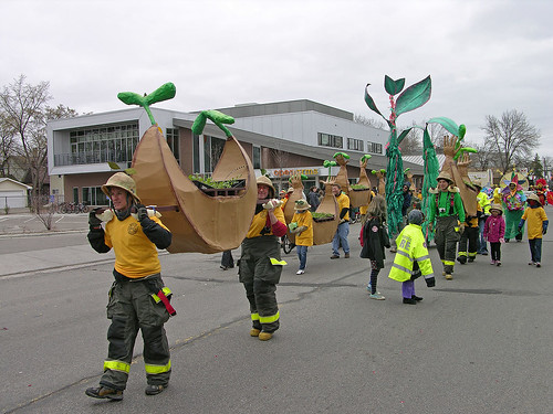 MayDay 2011 seed arks in parade