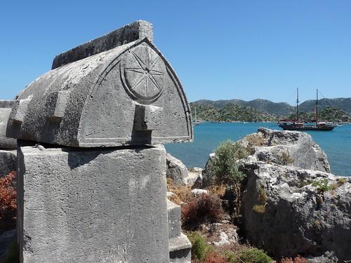 Ostrov Kekova: Starověká Simena aneb Málem trosečníkem v potopeném městě
