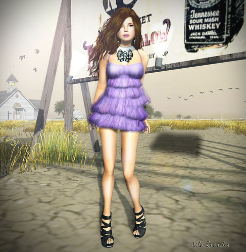 >TRUTH< Jacqueline 2 - chocolate & A&M Multi-layered Dress - Periwinkle