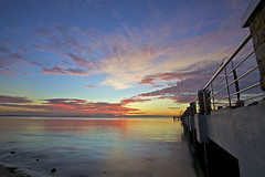 Enjoying Nature's Colors (ChR!s H@rR!0t) Tags: morning bridge sea sun nature colors beautiful sunrise amazing sand jetty malaysia penang awe